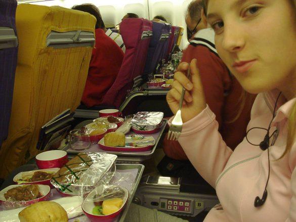hrana na letalu