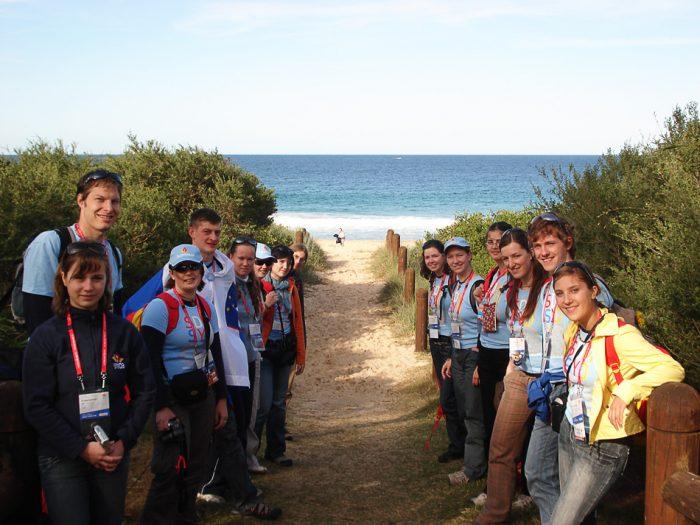 skupina mladih na SDM Avstralija 2008
