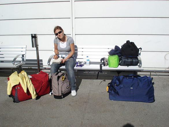 ženska na letališču Sydney Airport