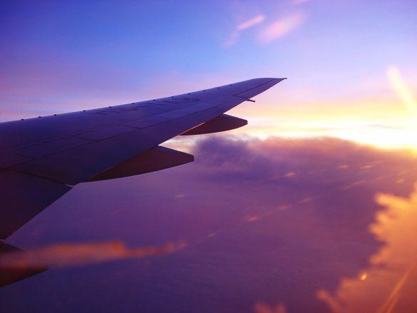 sončni vzhod iz letala
