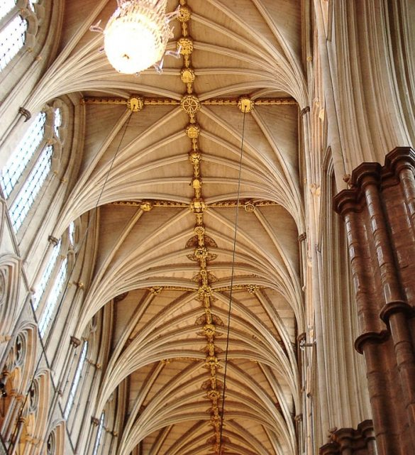 strop gotske cerkve Westminster Abbey
