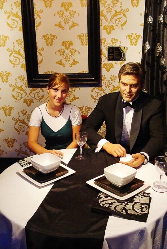 George Clooney na večerji