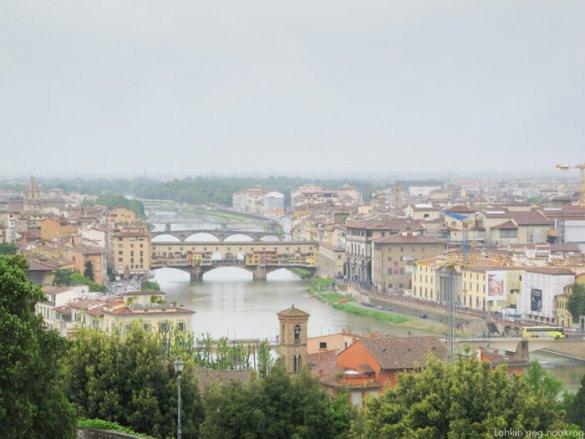 pogled na reko Arno, Firence.