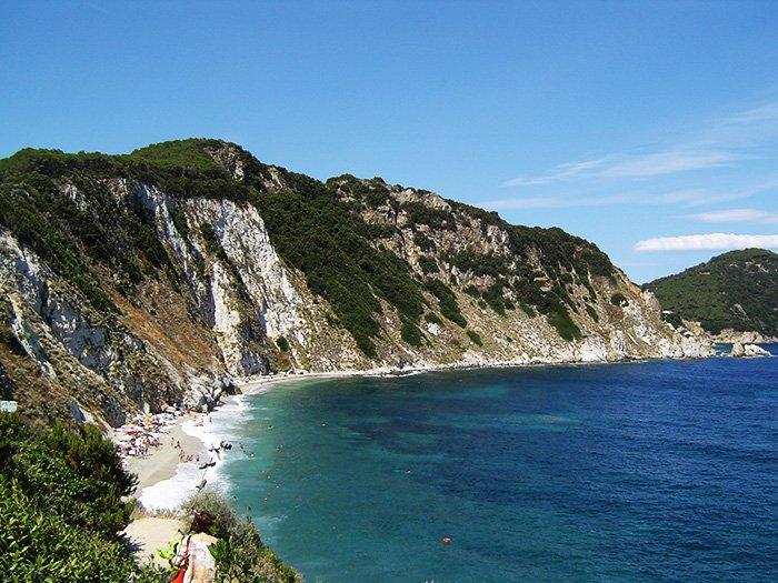 klif in plaža na Elbi