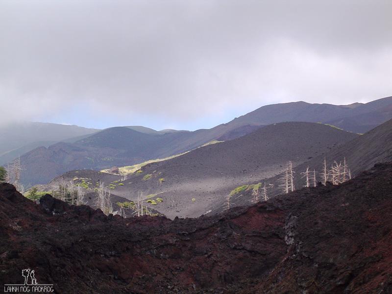 vulkanska pokrajina v okolici Etne, Sicilija