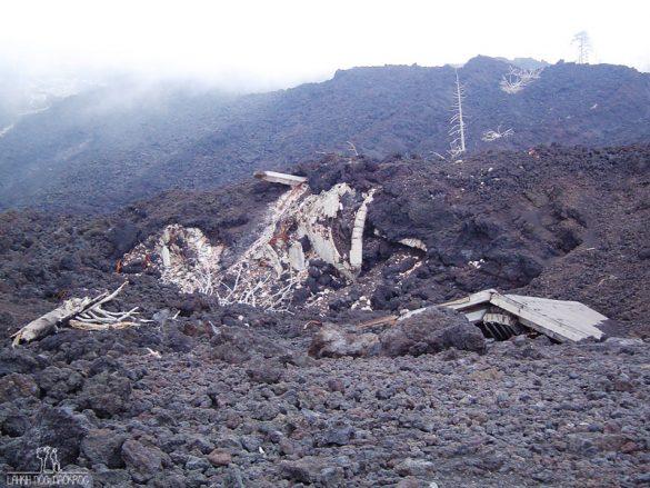 posledica vulkanskega izbruha Etne