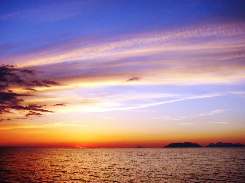 sončni zahod na Siciliji