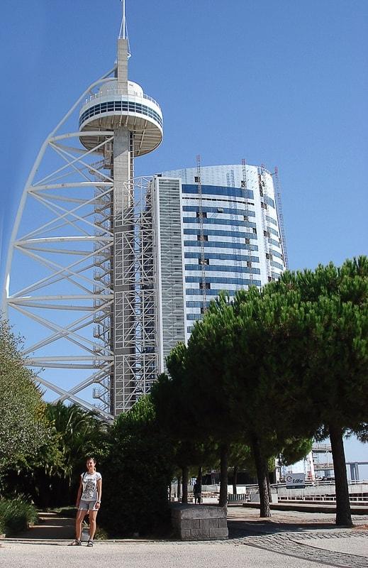 torre vasco da gamma, lizbona, stolpnica v obliki jadra