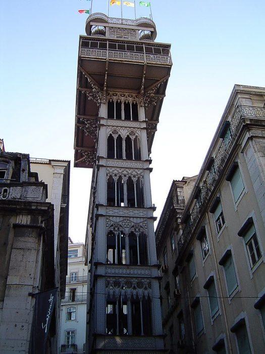 artistično dvigalo Santa Justa v Lizboni