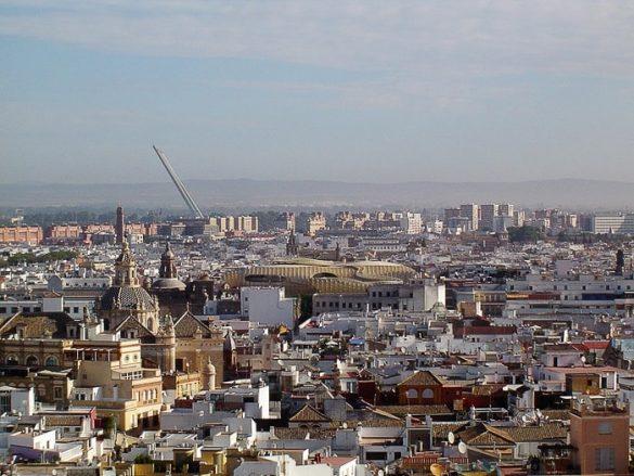 pogled na mesto Sevilla od zgoraj
