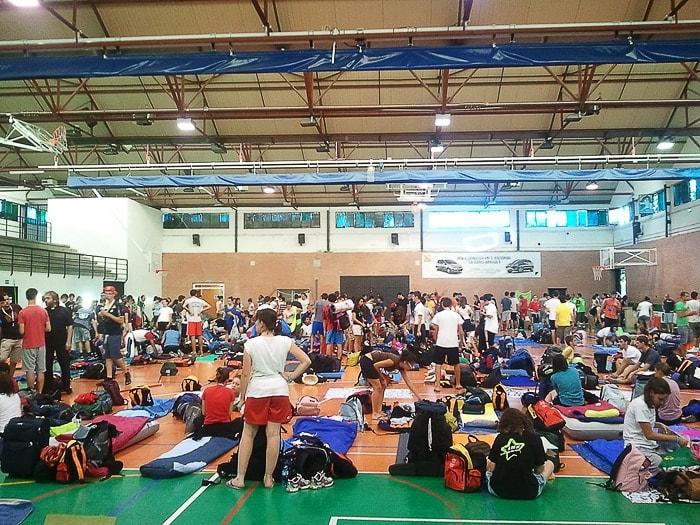 polna telovadnica romarjev svetovnega dneva mladih