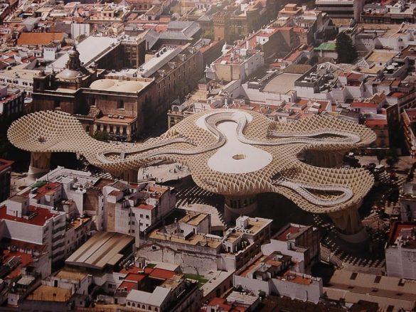 Metropol Parasol Sevilla, pogled iz zraka