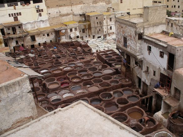 Barve za usnje, Fes, Maroko