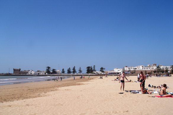 peščena plaža v Essaouira
