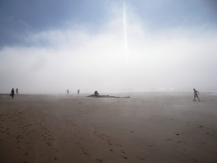 meglice nad Atlantikom, plaža Legiza, Maroko