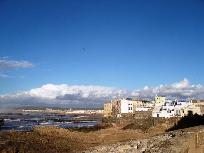 pogled na mesto Essaouira, MAroko, načrt potovanja Maroko