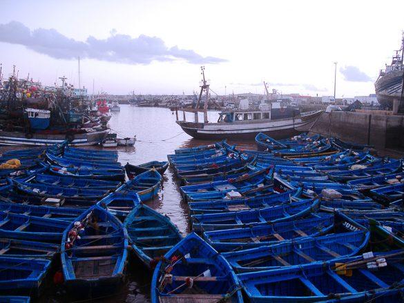 modri čolni v Essaouiri