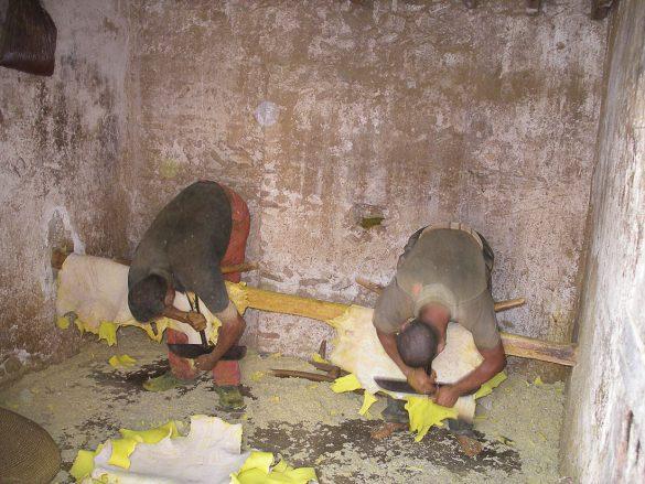 Delavci usnjarske obrti