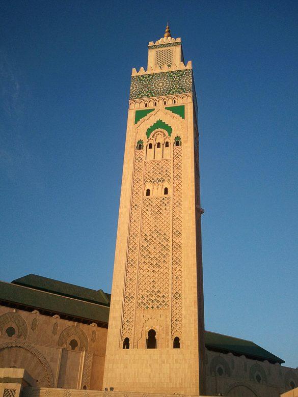 Minaret mošeje Hasan II