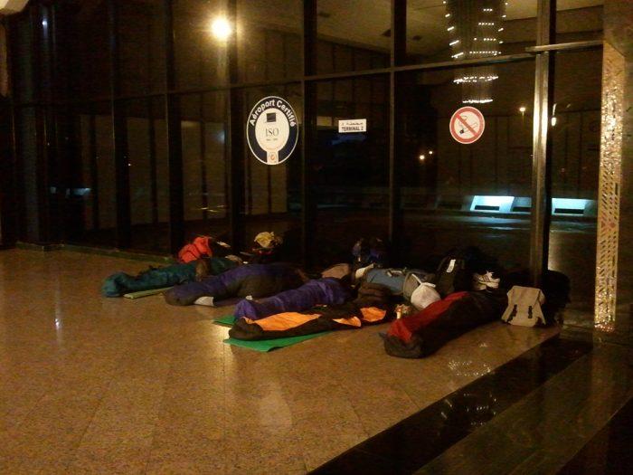 spanje na letališču Casablanca