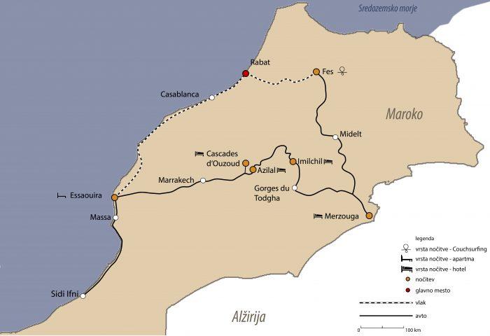 načrt potovanja maroko - pregled potovanja