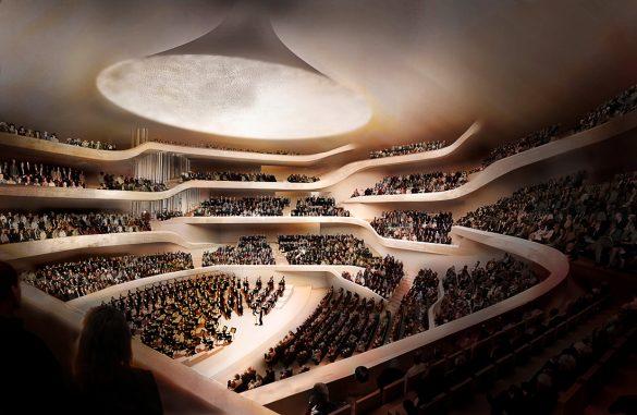 filharmonija Hamburg, notranjost