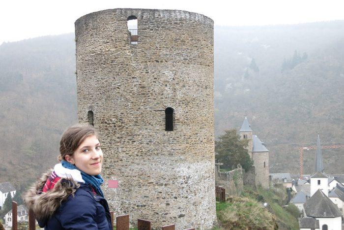 Obrambni stolp in razvaline gradu Esch sur Süre