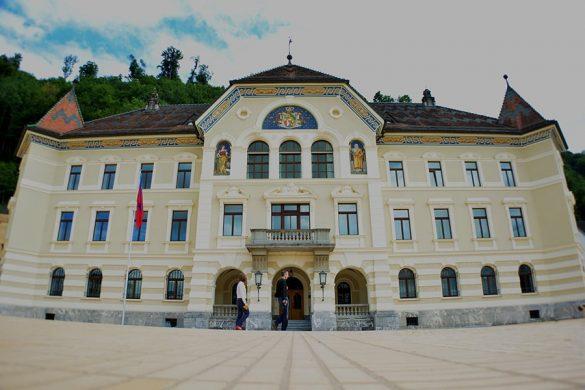 Stari parlament v Vaduzu.