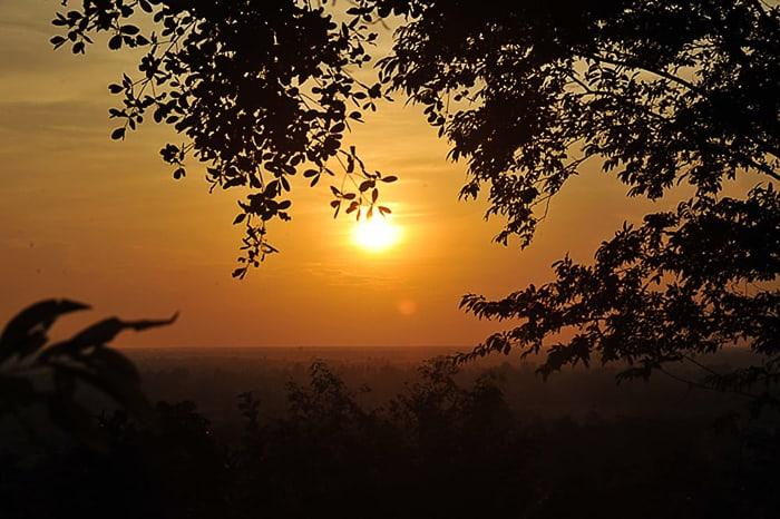 sončni zahod, Kambodža