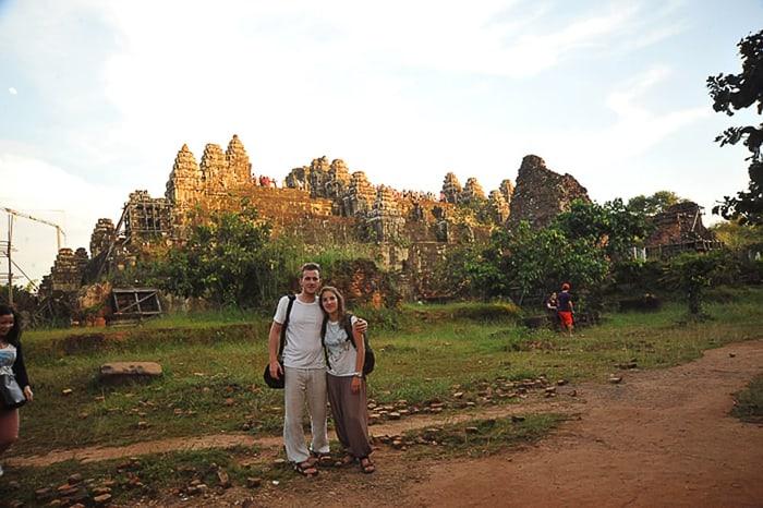 sončni zahod, tempelj Phnom Bakheng