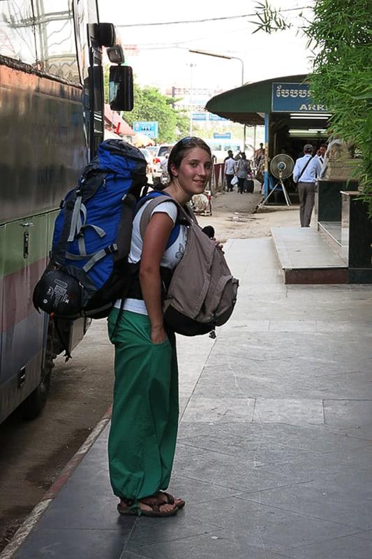 ženska backpacker