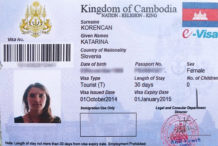 viza za kambodžo