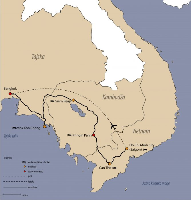 načrt potovanja: vietnam, kambodža, tajska