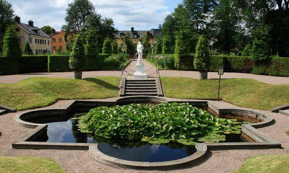 "Ribnik in ""močvirje"" v Linnaeusovem vrtu"