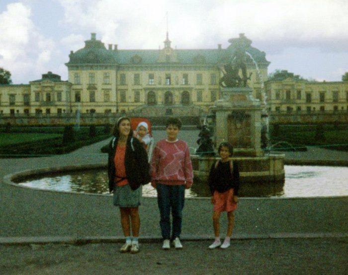 starinska fotografija družine v Stockholmu