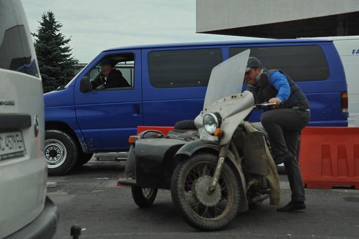 prastar motor na ukrajinsko-poljski meji