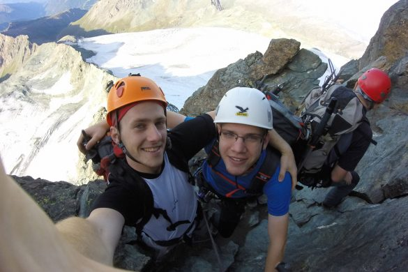 selfie na grebenu Strudlgradt