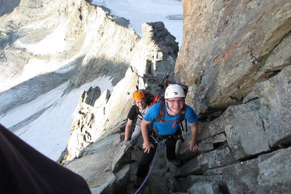 alpinisti na grebenu Strudlgradt