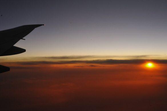 Sončni zahod nekje nad Indijskim oceanom