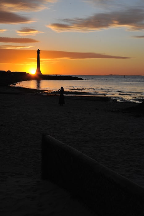 sončni zahod Melbourne