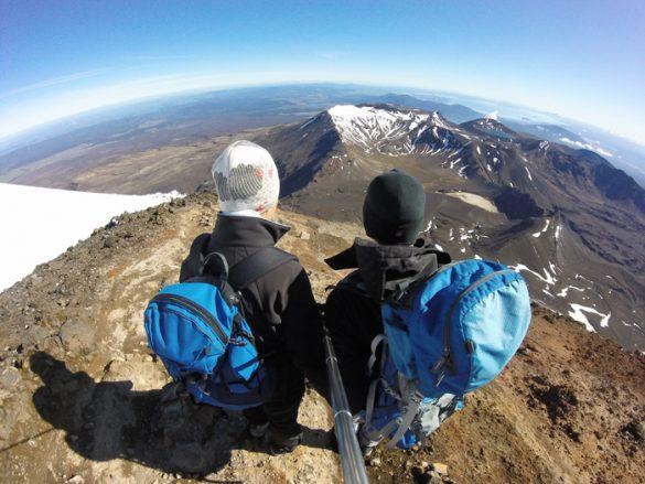 Tongariro Alpine Crossing - na vrhu gore pogube