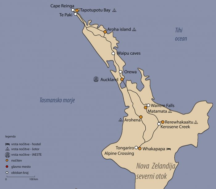 načrt potovanja Nova Zelandija
