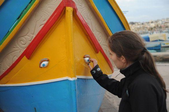 pisana ladja z očmi iz Malte, Marsaxlokk