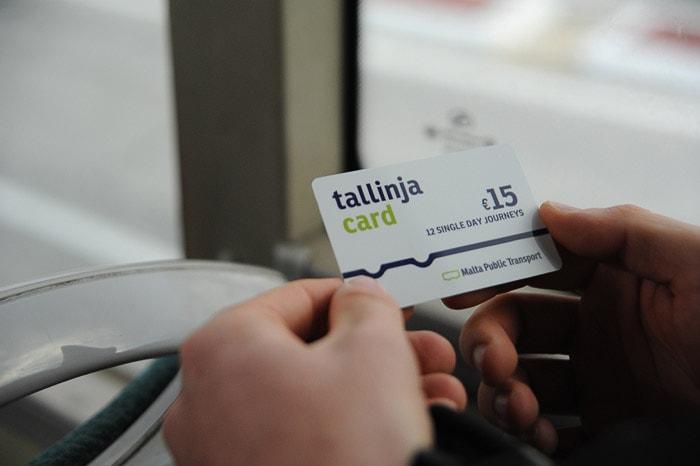 Tallinja card za javni promet na Malti