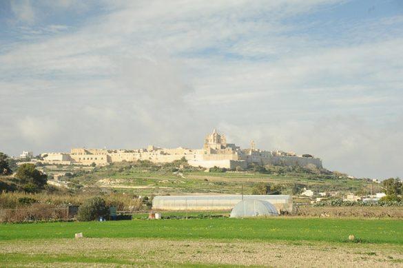 bela, kamnita vasica na gričku. Najbolj je vidna baročna cerkev