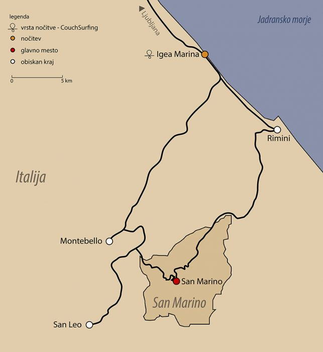 zemljevid San Marino