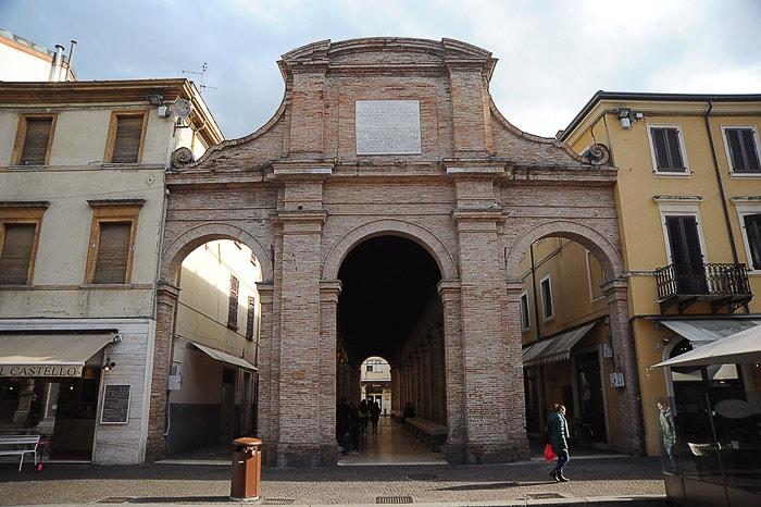 rimska stavba v mestu Rimini