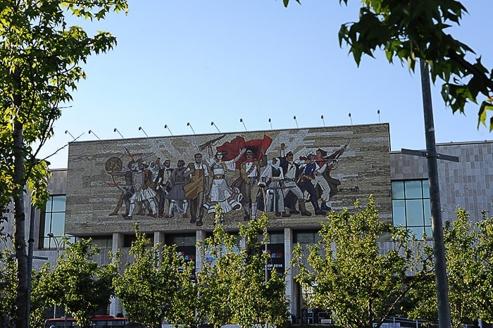 Mozaik na pročelju Muzeja narodne zgodovine