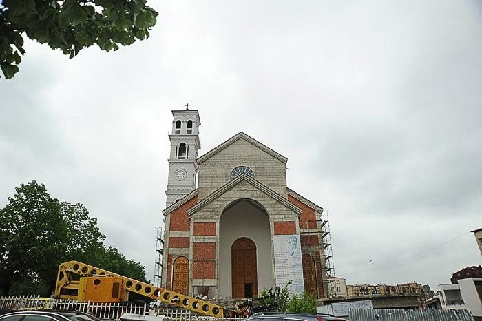 Katedrala Mati Terezije v gradnji