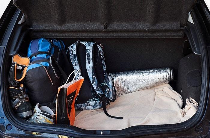 nahrbtnik v prtljažniku